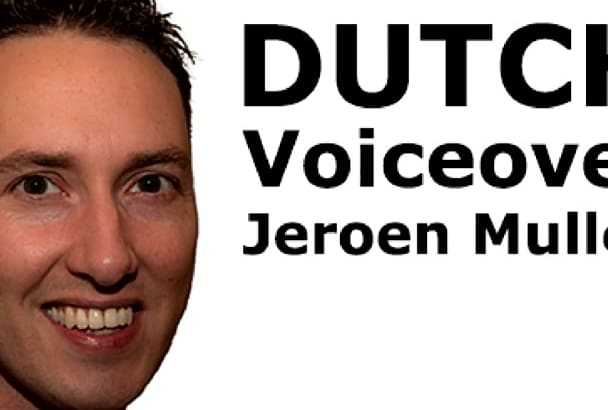 record a DUTCH voicemail, ivr, avr voiceover today