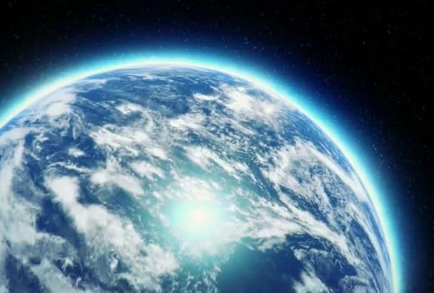 create earth logo intro video