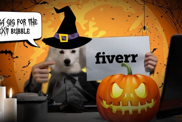 make a Halloween video with my dog Ozzy