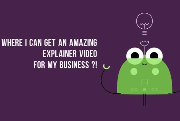 create an AMAZING Animation to Market your business or Project