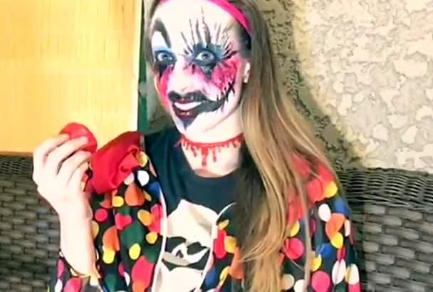 create a creepy clown phenomenon video