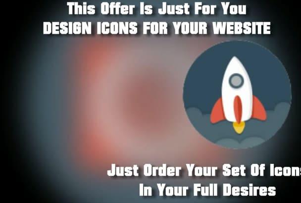 design Of Set Flat Icons