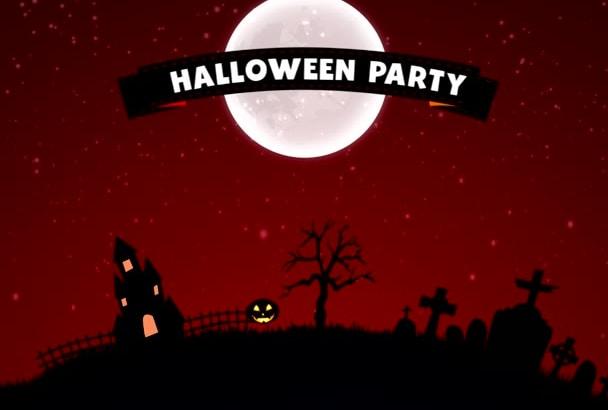 edit custom halloween party video