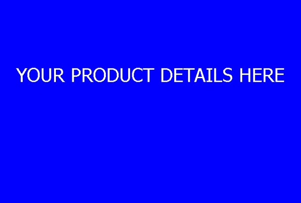 create a Promotional VIDEO for your product or service