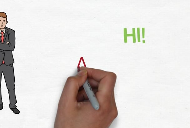 create an amazing whiteboard animation and full satisfy you