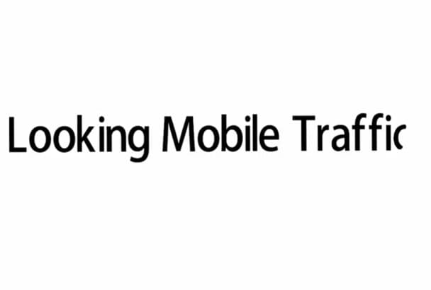 drive unlimited mobile traffic to your mobile site or blog