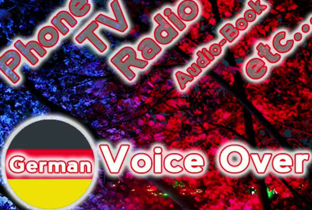 record a male voice over in German or English