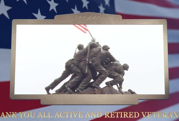 create a heroic Veterans day video