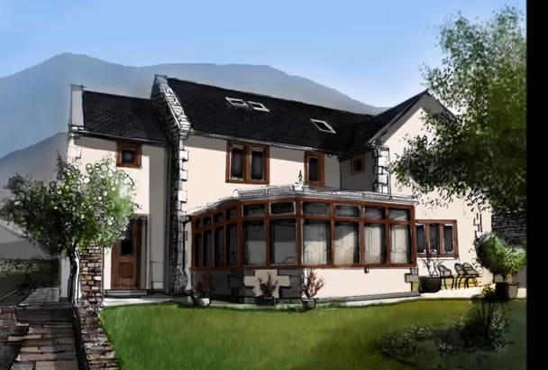 make a beautiful real estate drawing