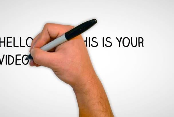 create a Eye Striking Whiteboard Animation Video in 24 Hours