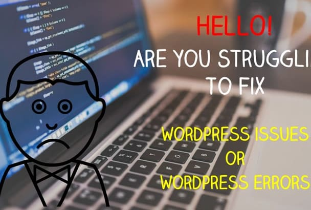 fix wordpress issues or wordpress errors in 14 hrs