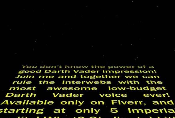read 150 words as Darth Vader