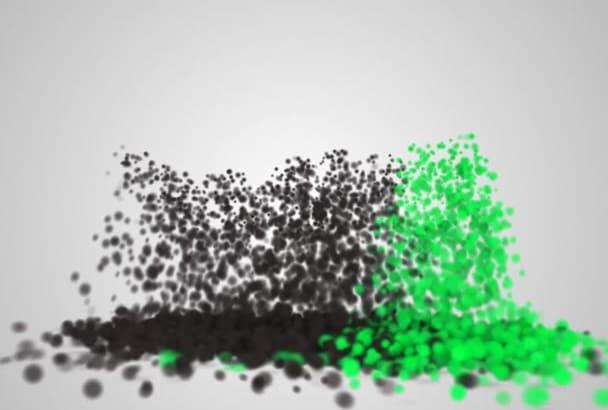 design this ELEGANT particle animated logo video intro