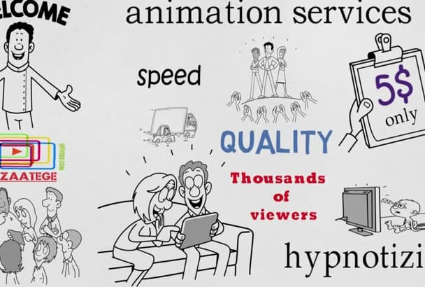 make impressive Professional Whiteboard  animation in 24 hours