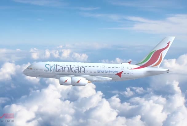create Airliner A380 Airplane Intro