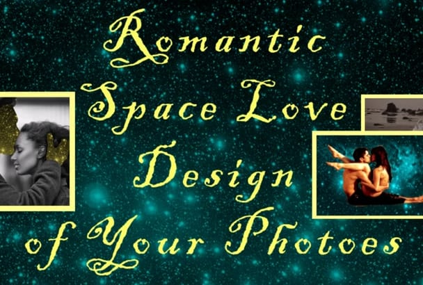 make a romantic SPACE love photoshop of your photoes