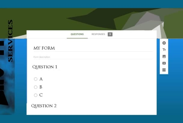 create online questionnaires with Google forms