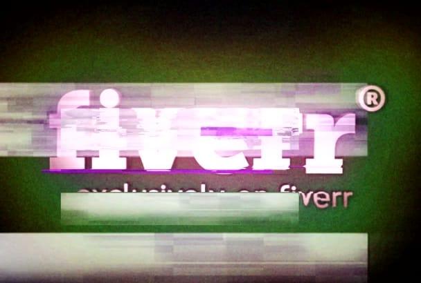 create Colorful Glitch Logo INTRO