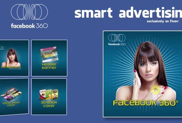 design facebook 360 degree AD