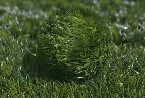 create this Grass ball INTRO