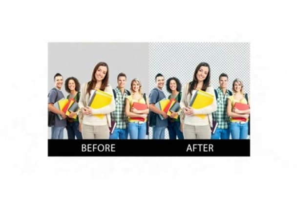 remove or change any background professionally  within 24 hrs