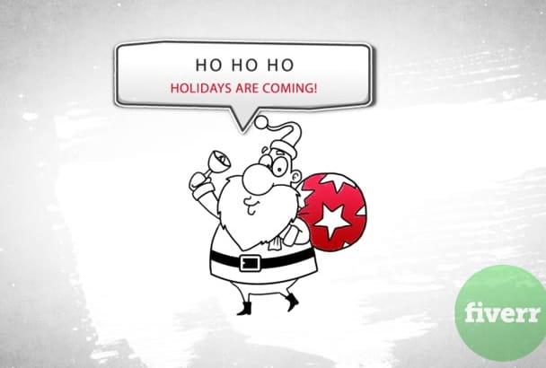 create Holidays Whiteboard Greetings