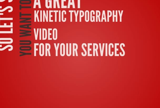 create a 60 second KINETIC typography video