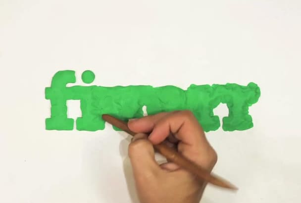 create this amazing sculp stop motion Logo Intro