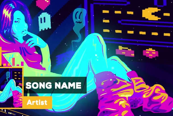 create a motion animated music video