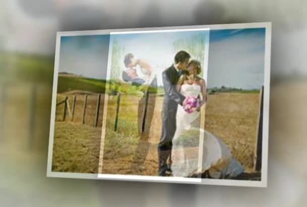 design your  wedding photos Album like a video