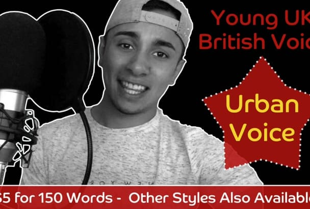 record an URBAN sounding British male voiceover within 48hrs