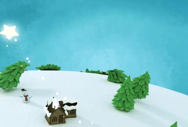 make christmas video animation