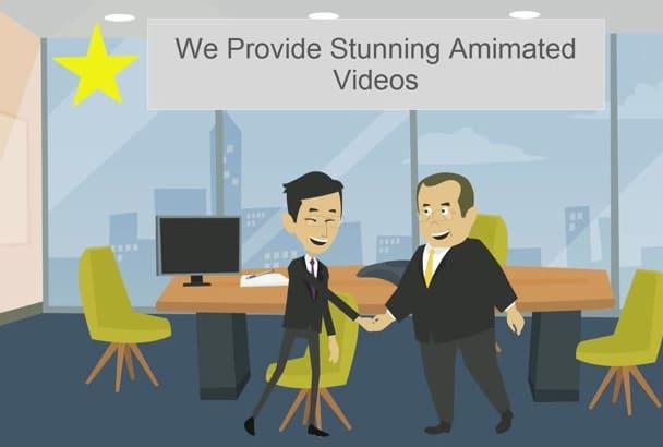 create custom 2D animated sales video