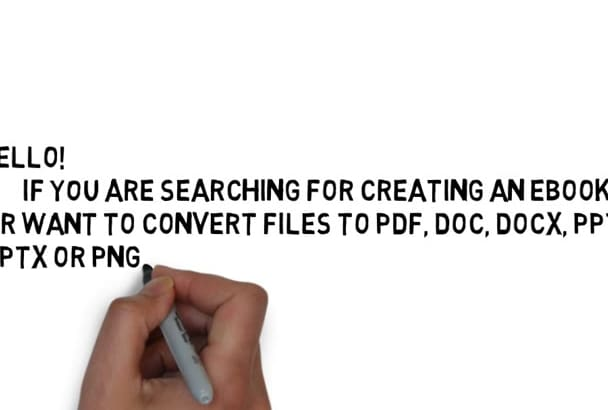 convert pdf to Word or make pdf ebook for you