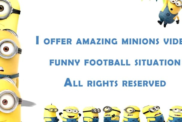 create GREAT Minions Funny Footbal logo intro video