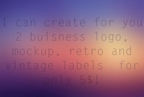 design a customized logo stamp or label and free mockup