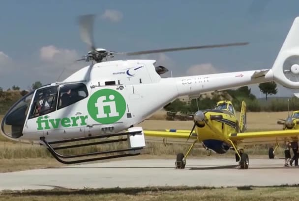 put your logo or text on the Helicopter
