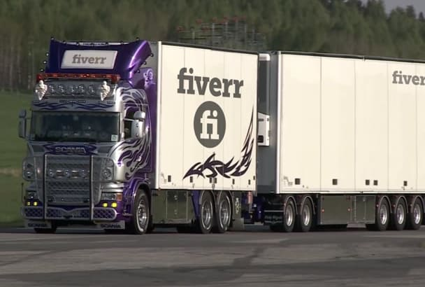 put your logo or any text on the truck