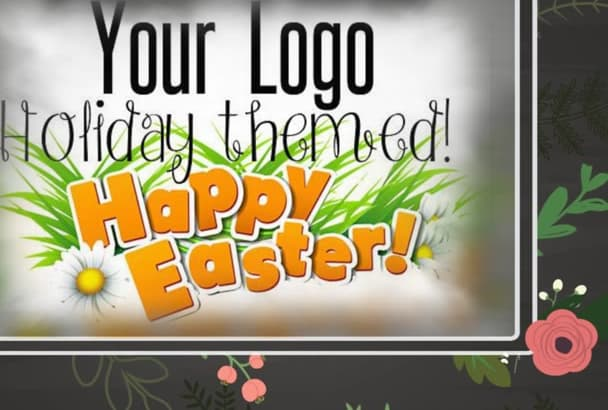 give your logo any occasion holiday theme