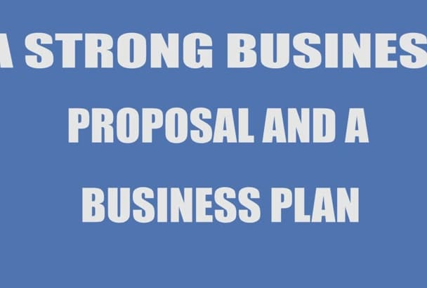 write a professional Business Plan or Proposal