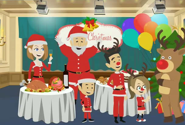 create Christmas video GIFT for your dearest ones