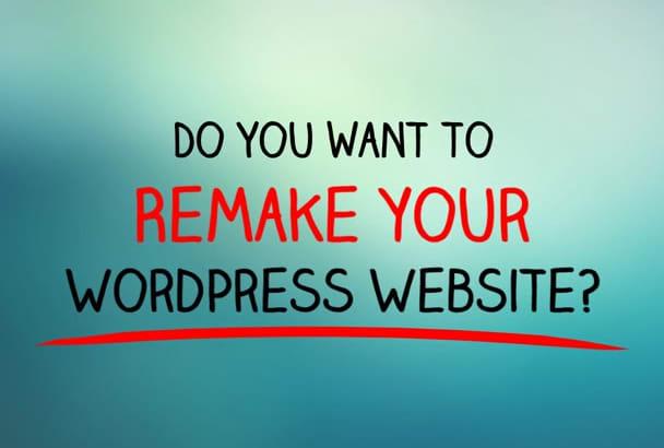 remake WordPress website perfecly