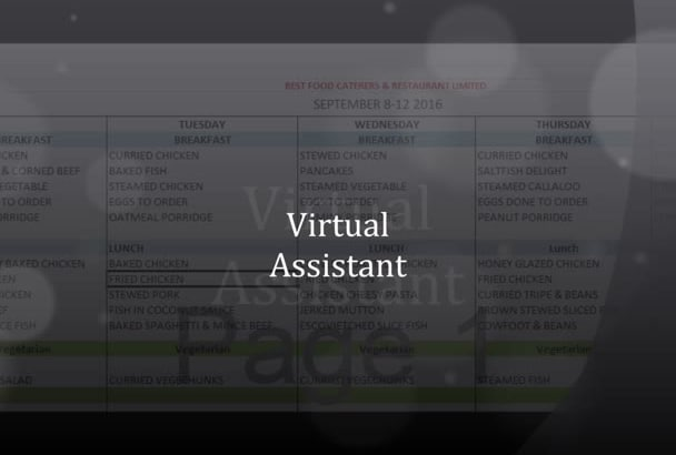 work as your Virtual Assistant for 3 hrs