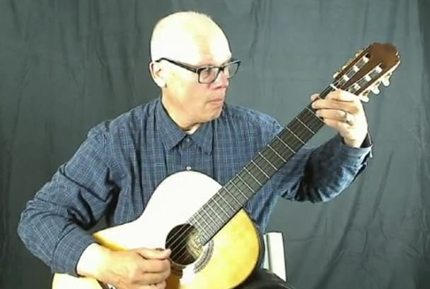 perform a live virtual concert on classical guitar