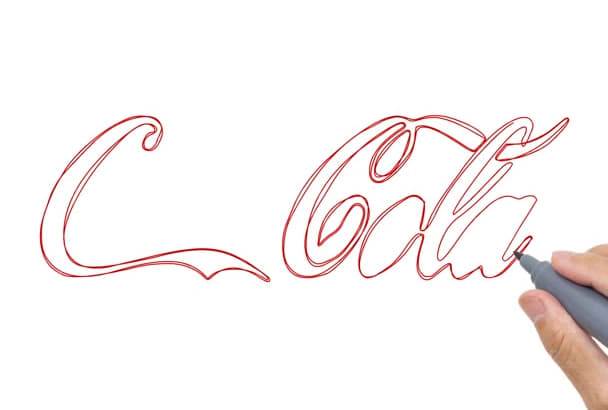 sketch draw your logo
