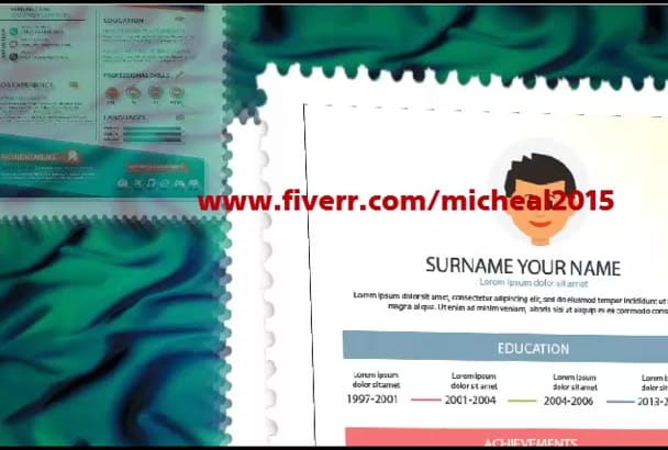 design resume, cv, curriculum vitae and cover letter
