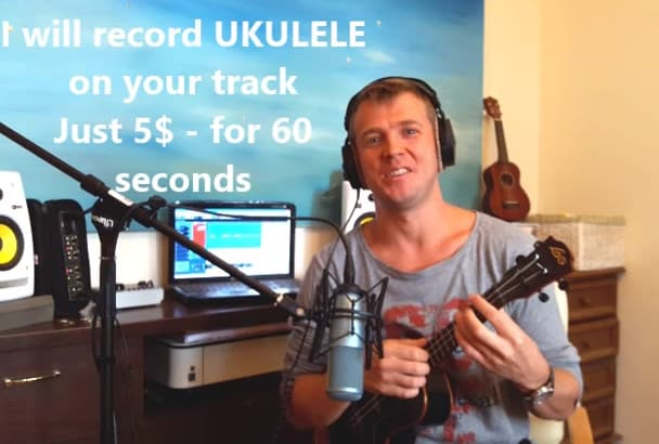 record professional Ukulele on your track