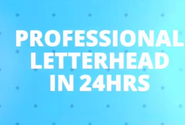 design a professional letterhead, Business cards, Stationary in less than 24Hs