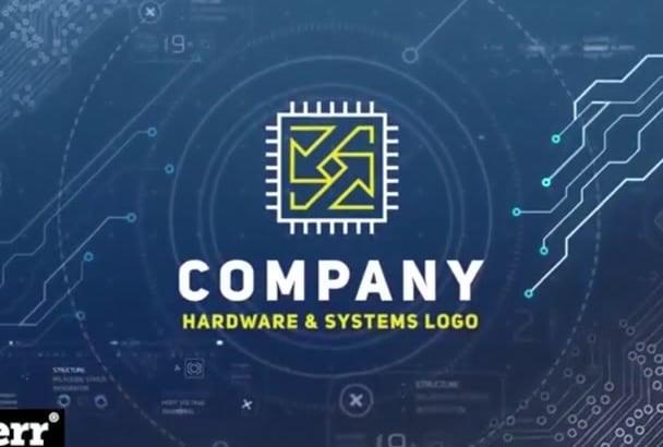 create ultimate hi tech logo generator in hd