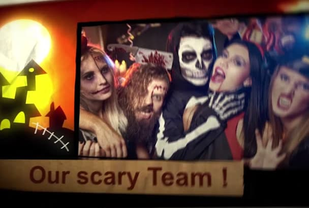 make a Halloween photo slideshow for your company